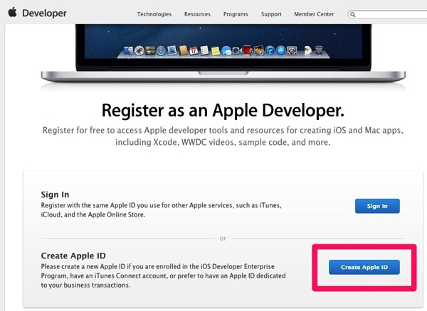 Apple Developer Registration
