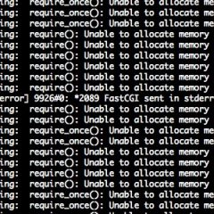 PHPの「Unable to allocate memory for pool.」というエラーの対処法