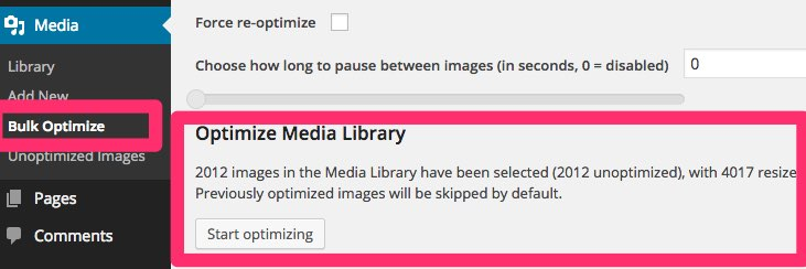 optimize media library