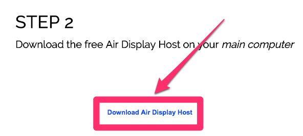 download air diplay host