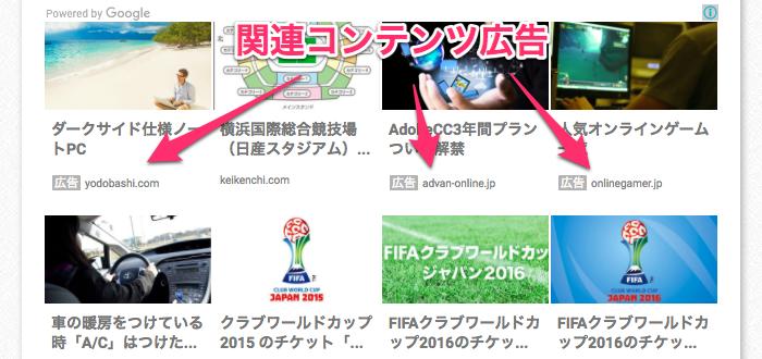 「アドセンス 関連コンテンツ」の画像検索結果