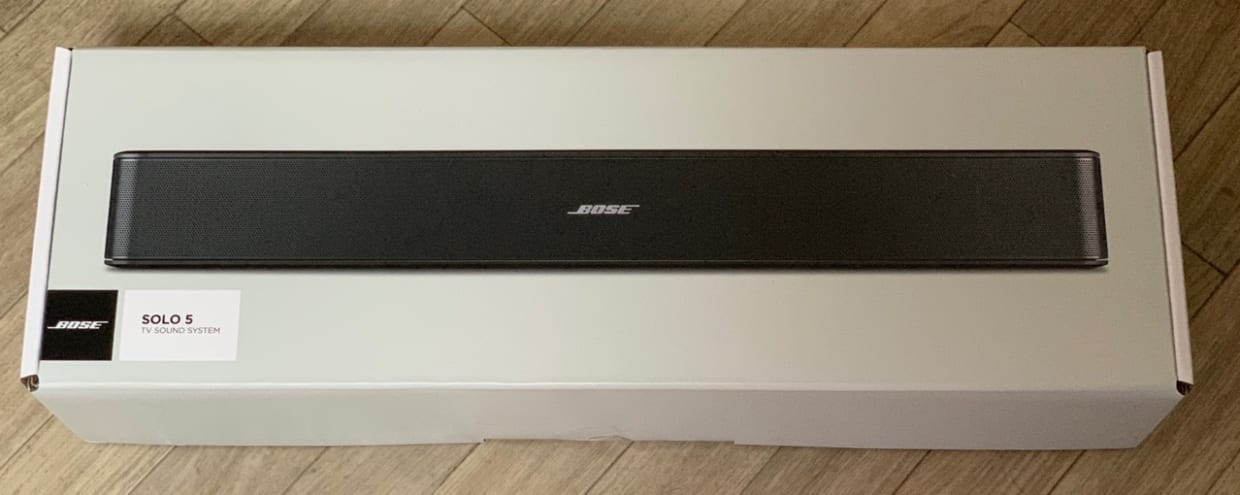 Bose Solo 5 TV sound systemの外箱
