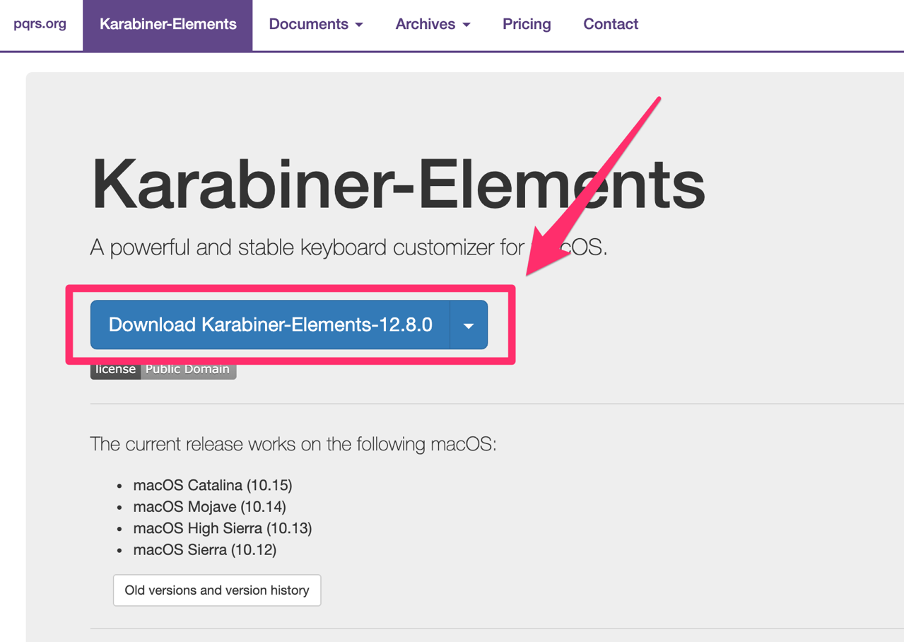 Karabiner Elements Software for macOS